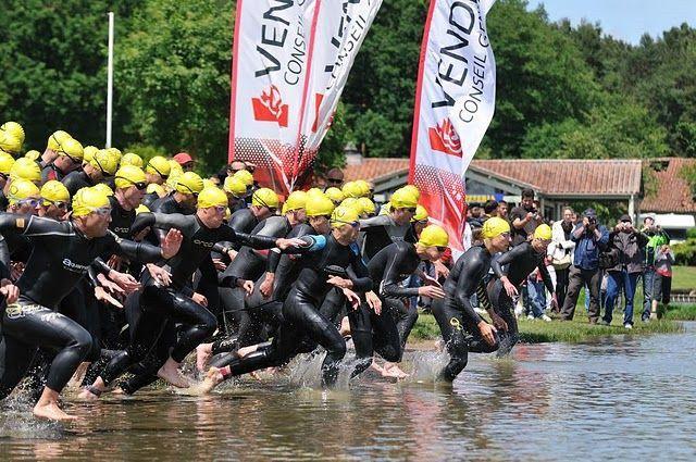 Triathlon organisé à la Tricherie