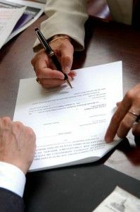 signing document