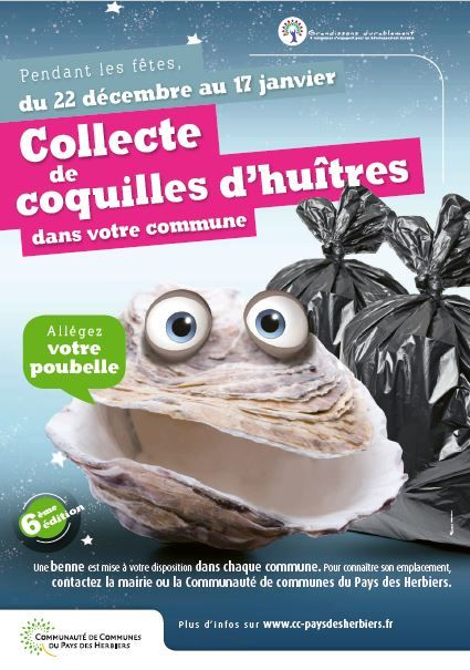 affiche coquilles huitres